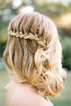 Braided and curled cascading wedding hair. Styled By: Summer Rose Thompson #weddingchicks #weddinghair http://www.weddingchicks.com/2014/06/17/patriotic-summer-lovin-wedding/