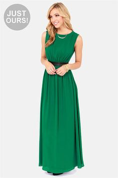 LULUS Exclusive Height of My Life Green Maxi Dress at LuLus.com! #lulus #holidaywear