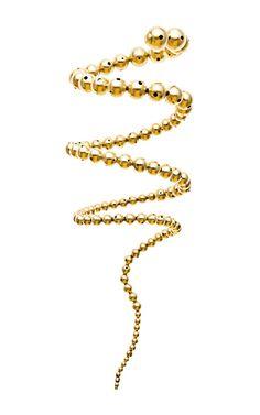 Paula Mendoza Nereus Gold-Plated Coil Wrap Bracelet