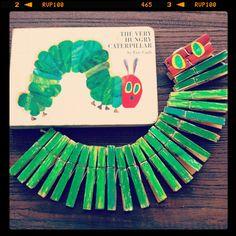"""Clothespin """"Very Hungry Caterpillar"""" craft!"""