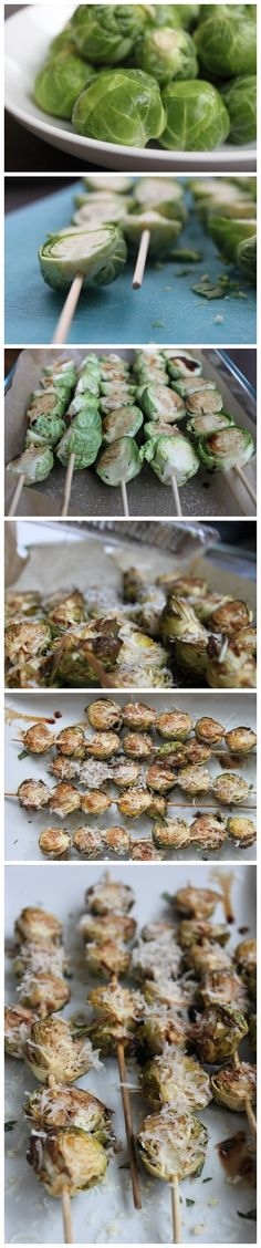 Balsamic-Glazed Brussels Sprouts (green, blue, teaspoon)