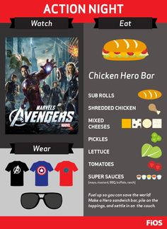 Everyone is a hero with Marvel's The Avengers. Grab your Iron Man, Thor, The Hulk, Captain America, Hawkeye, and Black Widow duds, fuel up so you can save the world, and settle in for an action-packed #movienight.
