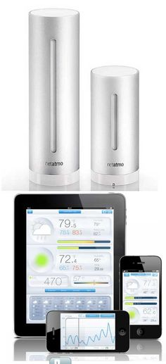 The Netatmo Weather Station lets you monitor the air quality and weather in your home.