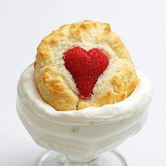 Strawberry Heart Shortcake Cupcakes