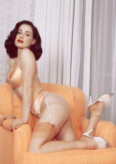 Frou Frou Fashionista Luxury Lingerie Tumblr | Dita von Teese #satin #lingerie