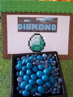 mincraft birthday party, theme parties, diamond, minecraft parti, minecraft birthday parties, parti idea, birthday minecraft, birthday ideas