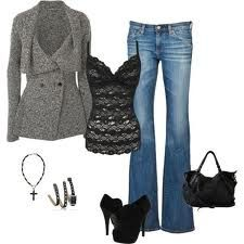 Cute fall outfit - this would be a cute date night outfit