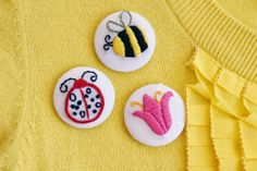 tutorial for embroidered button covers