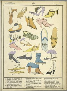 Flat Shoes, France, from The Femenine Costume Of The World, via NYPL
