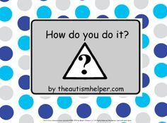 How do you do it? - work on sequencing with children with autism! by theautismhelper.com
