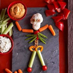 Mr. Bones & Double Dips is a great way to offset the candy intake! Find more recipes here: http://www.bhg.com/halloween/recipes/halloween-recipe-ideas/?socsrc=bhgpin090114bonesanddoubledips&page=4