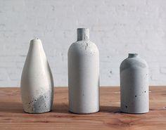 #DIY Bottles to Make Chic Concrete Vases