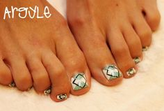 cute toenail designs | agryle toenail design 1024x693 23 Cute Pedicure Designs for You