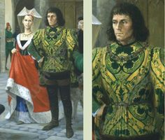 Richard III and his wife Anne Neville
