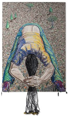 Federico Uribe Paints with Reused Electrical Cables in art  with Wires Upcycled Recycled Art Painting