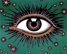 third eye, poster, inspir, evil eye, art nouveau, illustr, thing, franz stuck, eyes