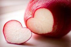 . radishes, heart shape, food, radish heart, natur, valentin, coeur, corazon, appl