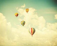 Hot Air Balloon Photo Print on Etsy