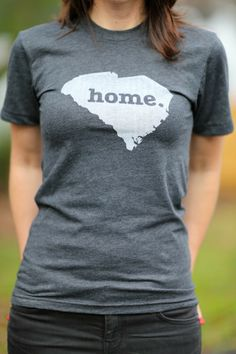 The Home. T - South Carolina Home T, $25.00 (http://www.thehomet.com/south-carolina-home-t-shirt/) A stylish way to show off your state pride, while also helping raise money for multiple sclerosis research. All the states and a few countries to choose from.
