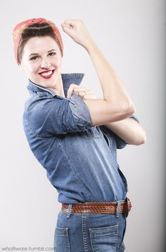 Rosie the Riveter, Rosie The Riveter Costume, Homemade Halloween, DIY Halloween Costume, Jessica Quirk, What I Wore