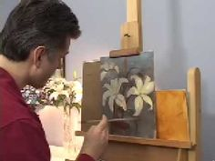 "▶ OIL PAINTING DEMONSTRATIONS --HOW TO PAINT FLOWERS--""LILIES"" BY HALL GROAT II - YouTube"