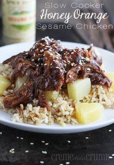 Slow Cooker Honey Orange Sesame Chicken