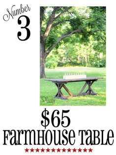 farmhouse table diy at www.shanty-2-chic.com.  i love this website!