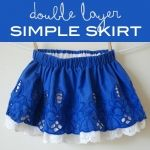 Double layer simple skirt