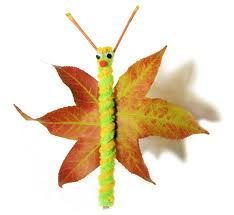 fall leaves, butterflies, fall crafts, leaf butterfli, butterfli craft, leaf crafts, fall leaf, craft ideas, kid craft