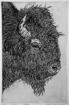 bison profile print