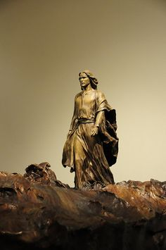 Christ walking on water sculpture by Angela Johnson.  Stunning!