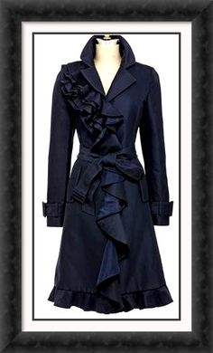 Dolce and Gabbana ruffled trench.
