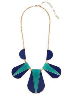 Color Block Necklace  via BaubleBar