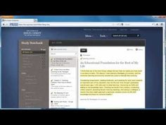 Videos to teach you how to use Study Notebook on lds.org.  This is the neatest thing.  You can study, make notes, collect scriptures on a topic, add tags to them, etc.  And it's all stored on a cloud for you.  The Church is using tech and we DO love technology!!