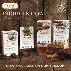 Now available: Chocolate Earl Grey, Chocolate Spice, Chocolate Rooibos & Chocolate Mint!