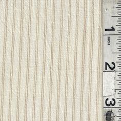 Ivory/Tan Stripe Shirting - Fabric By The Yard