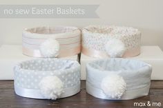 Max and Me: No Sew Easter Baskets