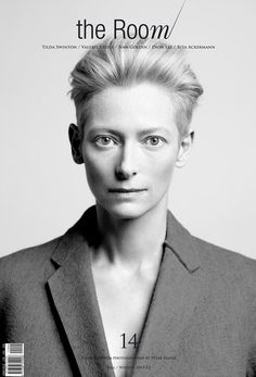 "Tilda Swinton/ Actress/ Born: November 5, 1960/ London / Height: 5' 11"" (1.79 m) / Perfect proportion, Attractive cheekbone, Epicene beauty/  from The Room 14 Fall Winter 2011"