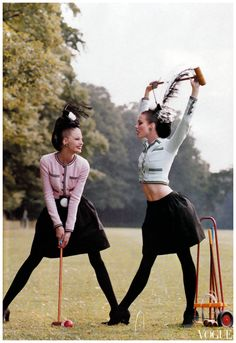 croquet Steven Meisel for Vogue