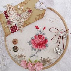Cross stitch and tag