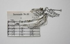 Serenade No. 10 bursts forth an angel. Paperworks by Erika Iris Simmons