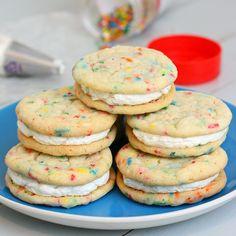 Funfetti Sandwich Cookies