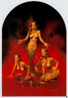 "Boris Vallejo 1981 ""snake women"""
