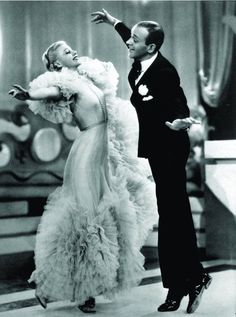 Ginger Rogers and Fred Astaire...