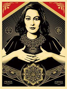 "Shepard Fairey ""Peace & Justice Woman"""