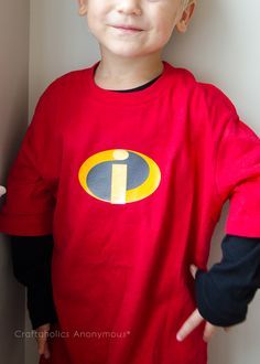 incredibles shirt for Halloween costume #handmade #halloween