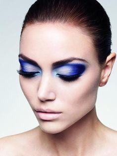 #blue #beauty #makeup #cosmetics #eyeshadow