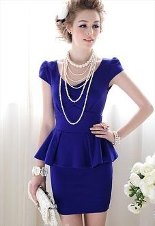 Royal Blue Peplum Dress