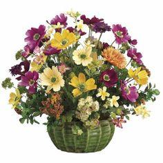 Daisy/ Cosmos/ Euphorbia Silk Flower Arrangemnet ARWF1201 #silkflowers