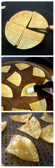 Homemade Tortilla Chips. Easy Peasy!
